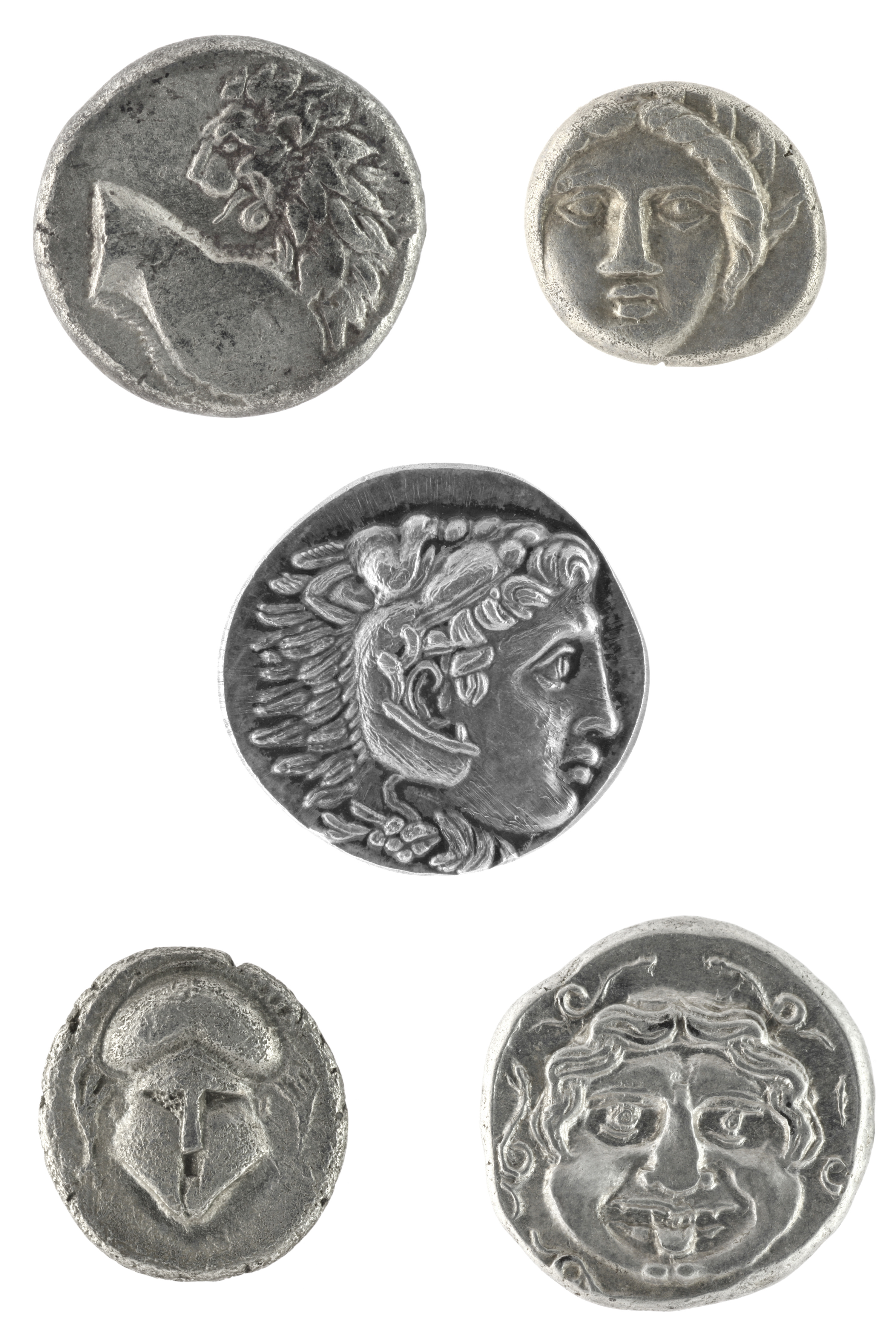Ancient Greek coins. Image courtesy of Adobe Stock.