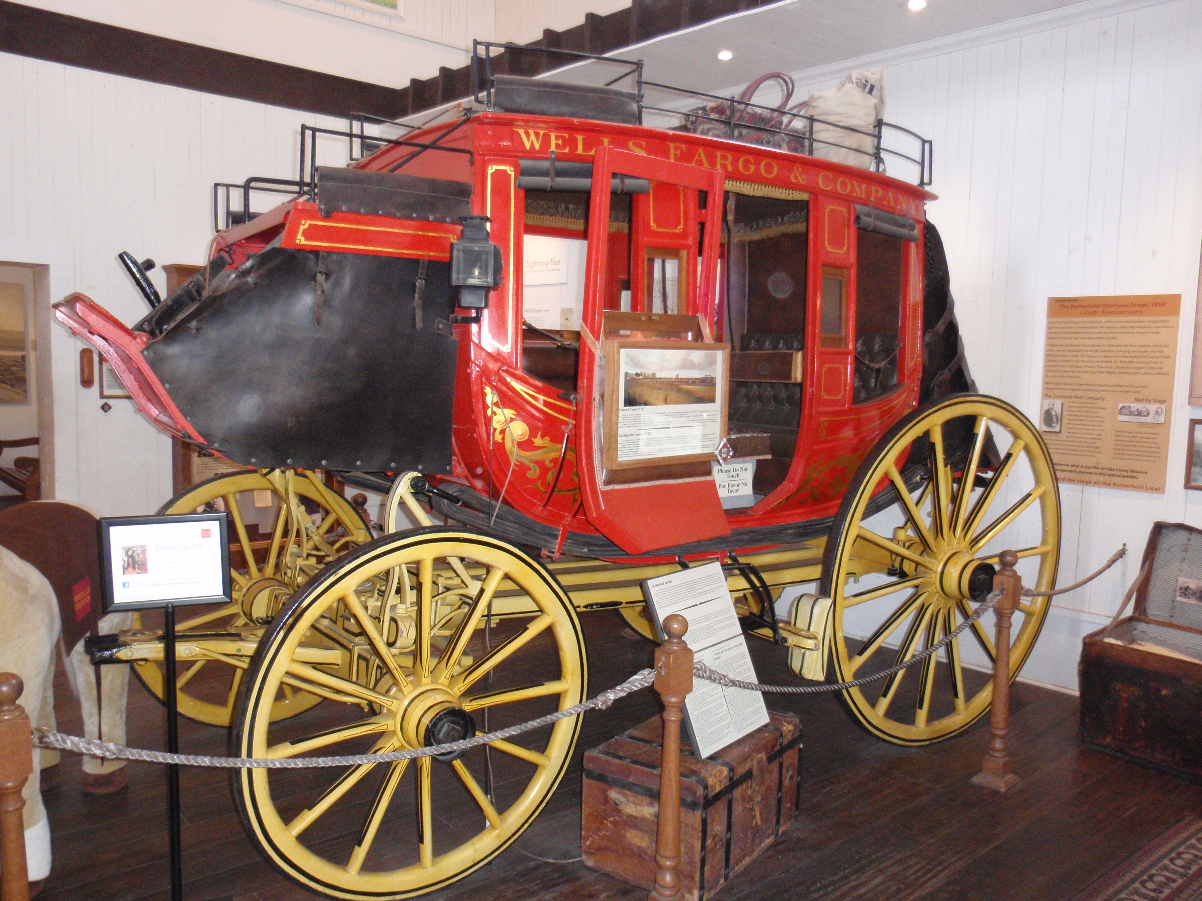 Wells Fargo Concord stagecoach. April 2012 photo by James Ulvog.