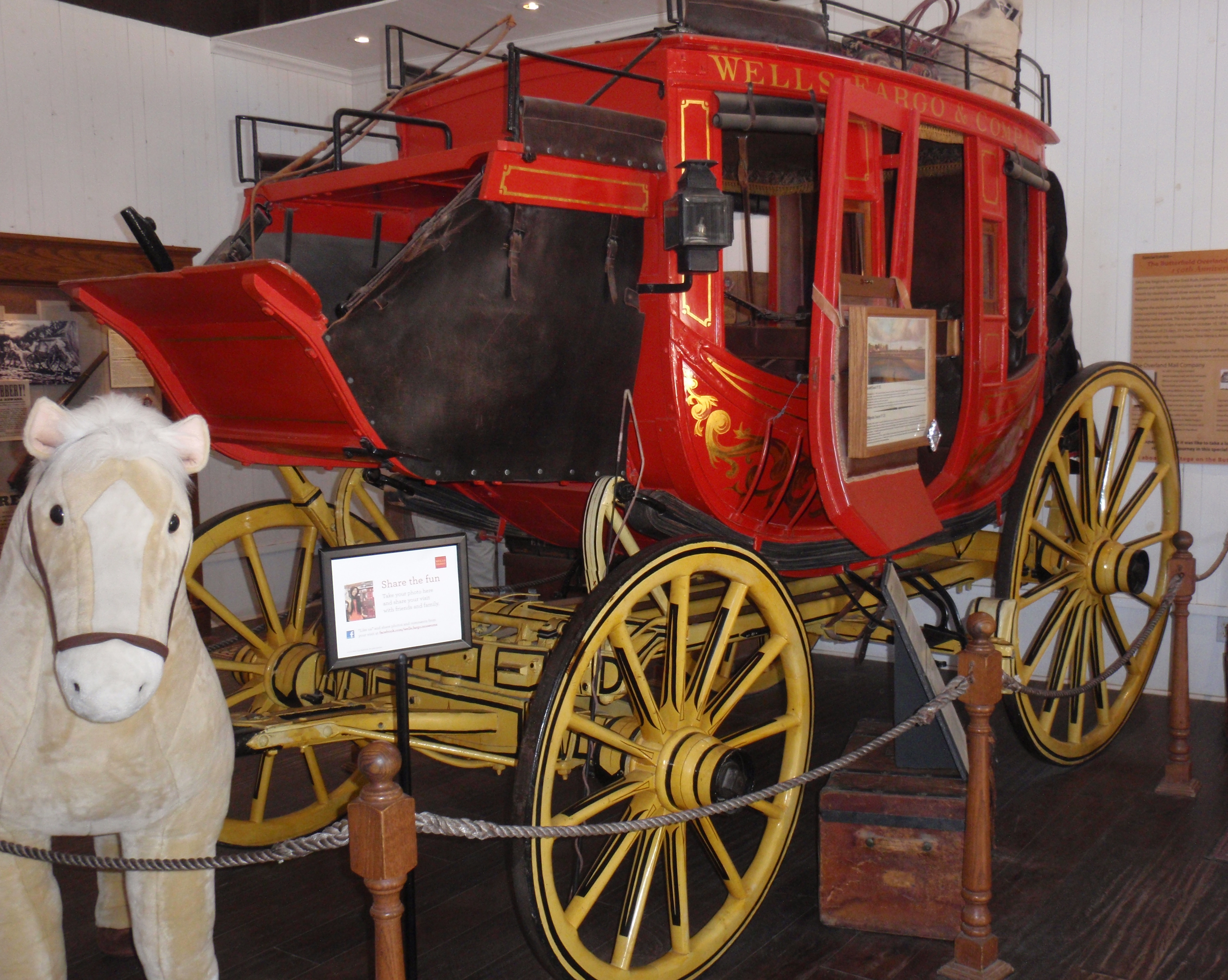 Wells Fargo museum in San Diego's Old Town State Park. Photo by James Ulvog.