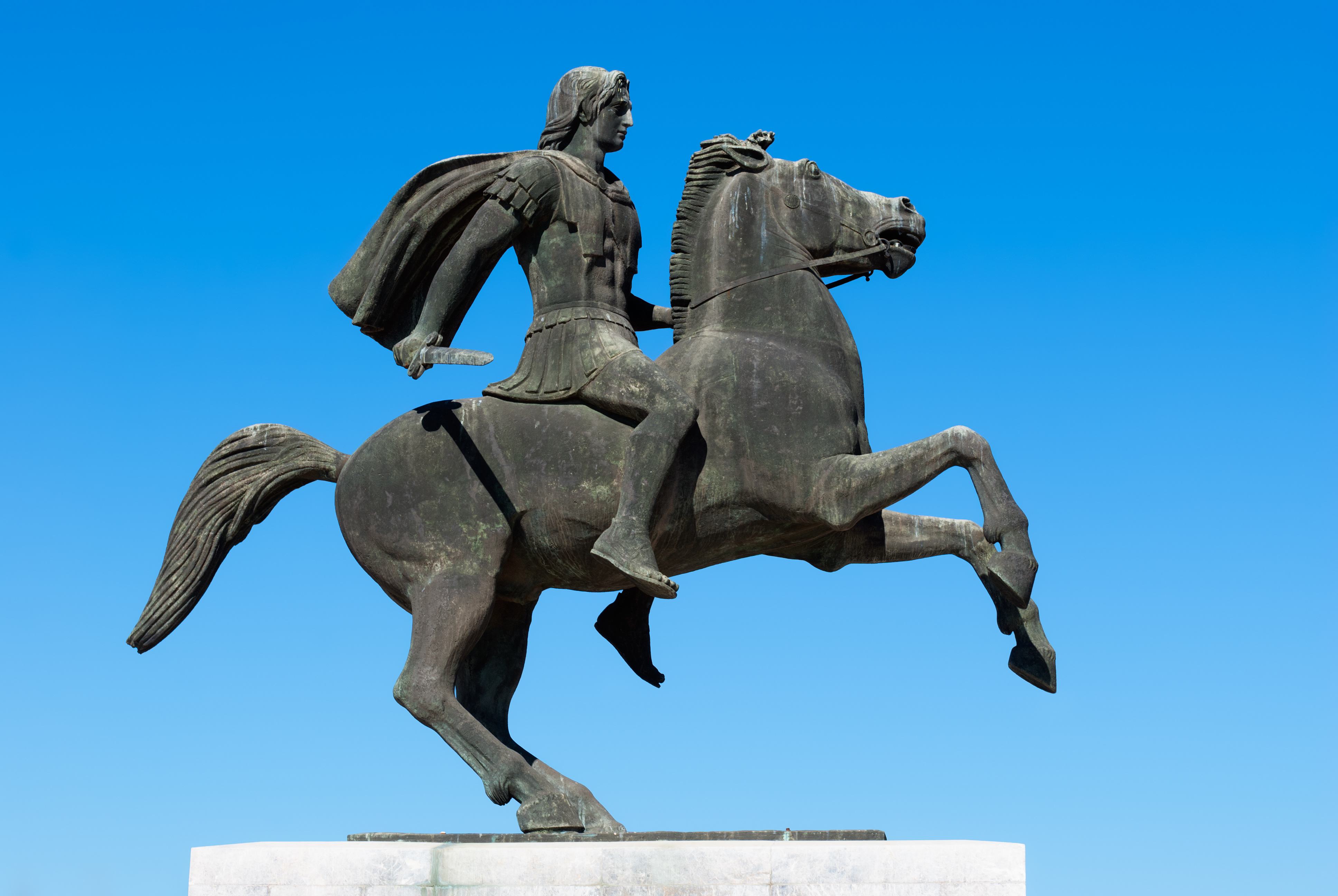 Statue of Alexander the Great at Thessaloniki, Greece. Image courtesy of Adobe Stock.